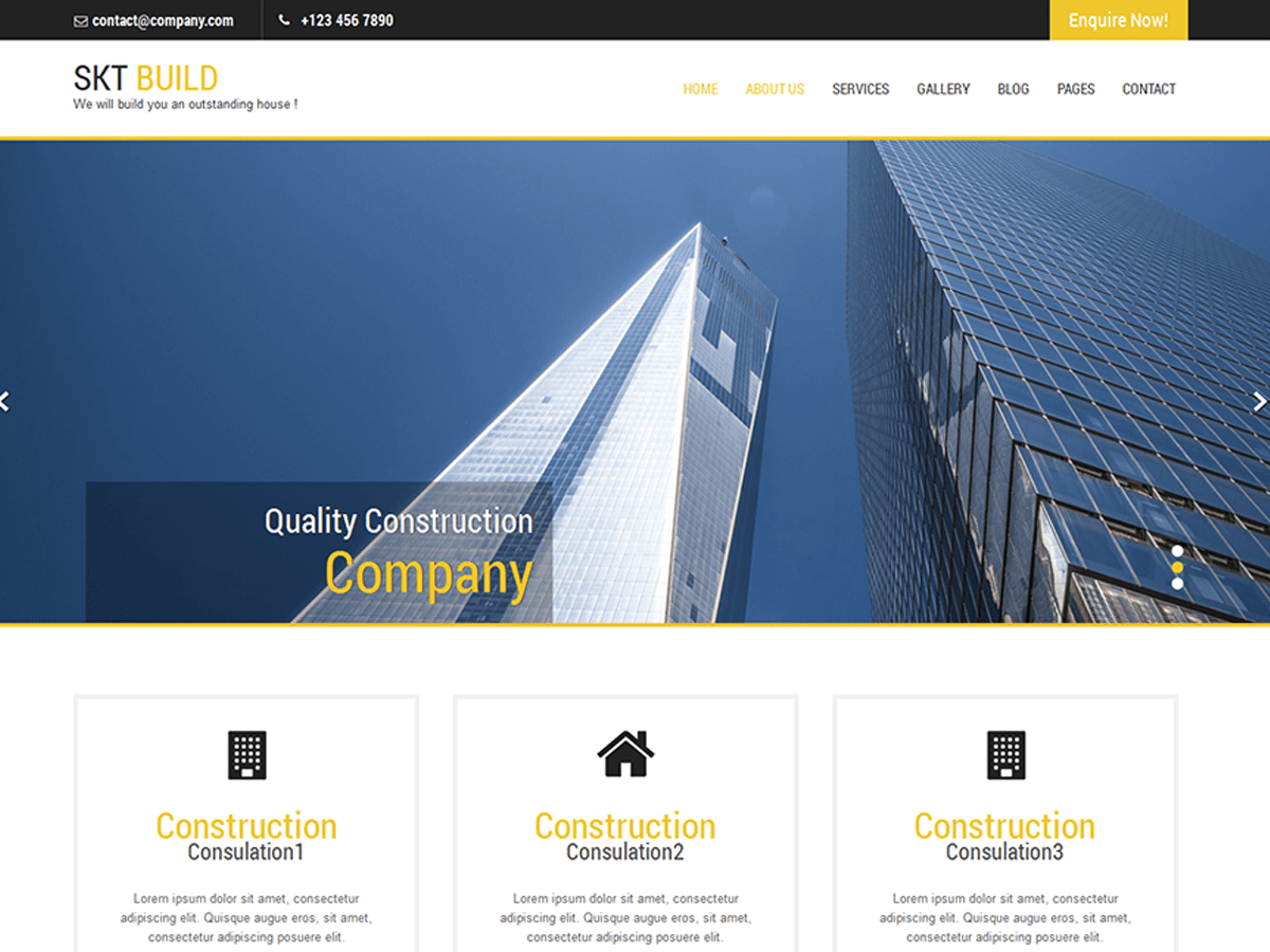 Build Lite wordpress theme