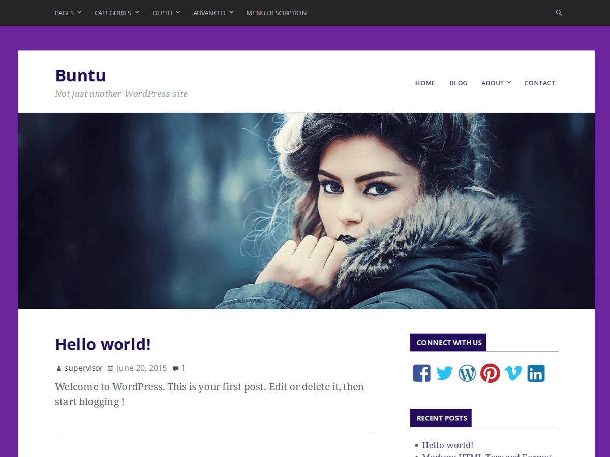 Buntu free wordpress theme
