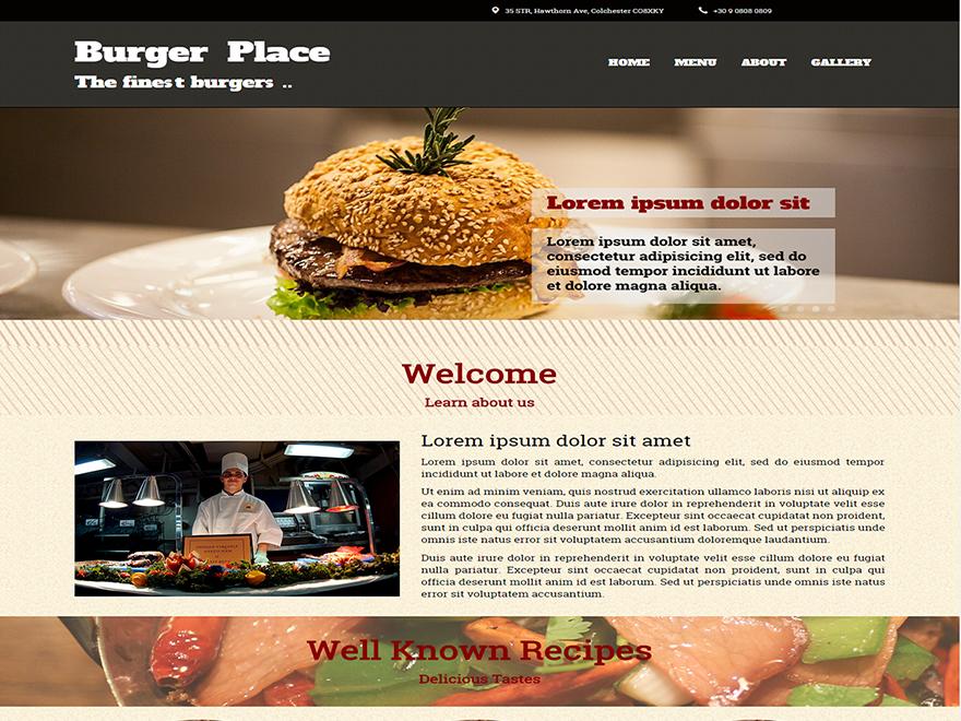 Burger free wordpress theme