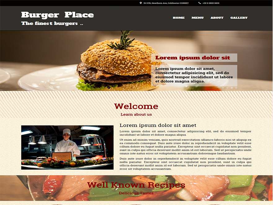 Burger theme wordpress gratuit