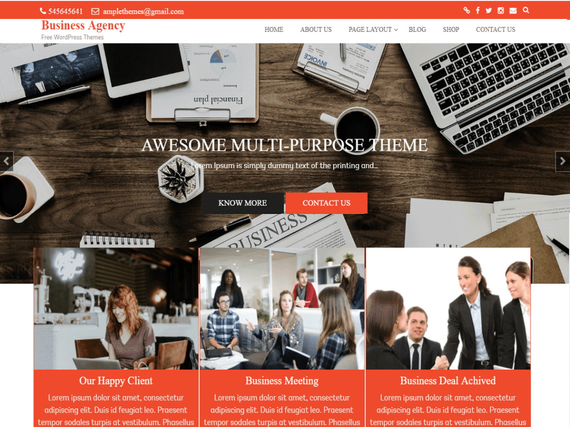 Business Agency Theme Free Download