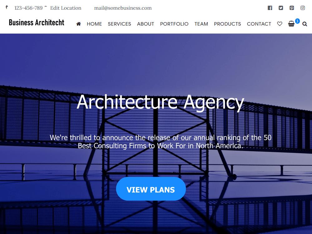 WordPress主题:Business Architect