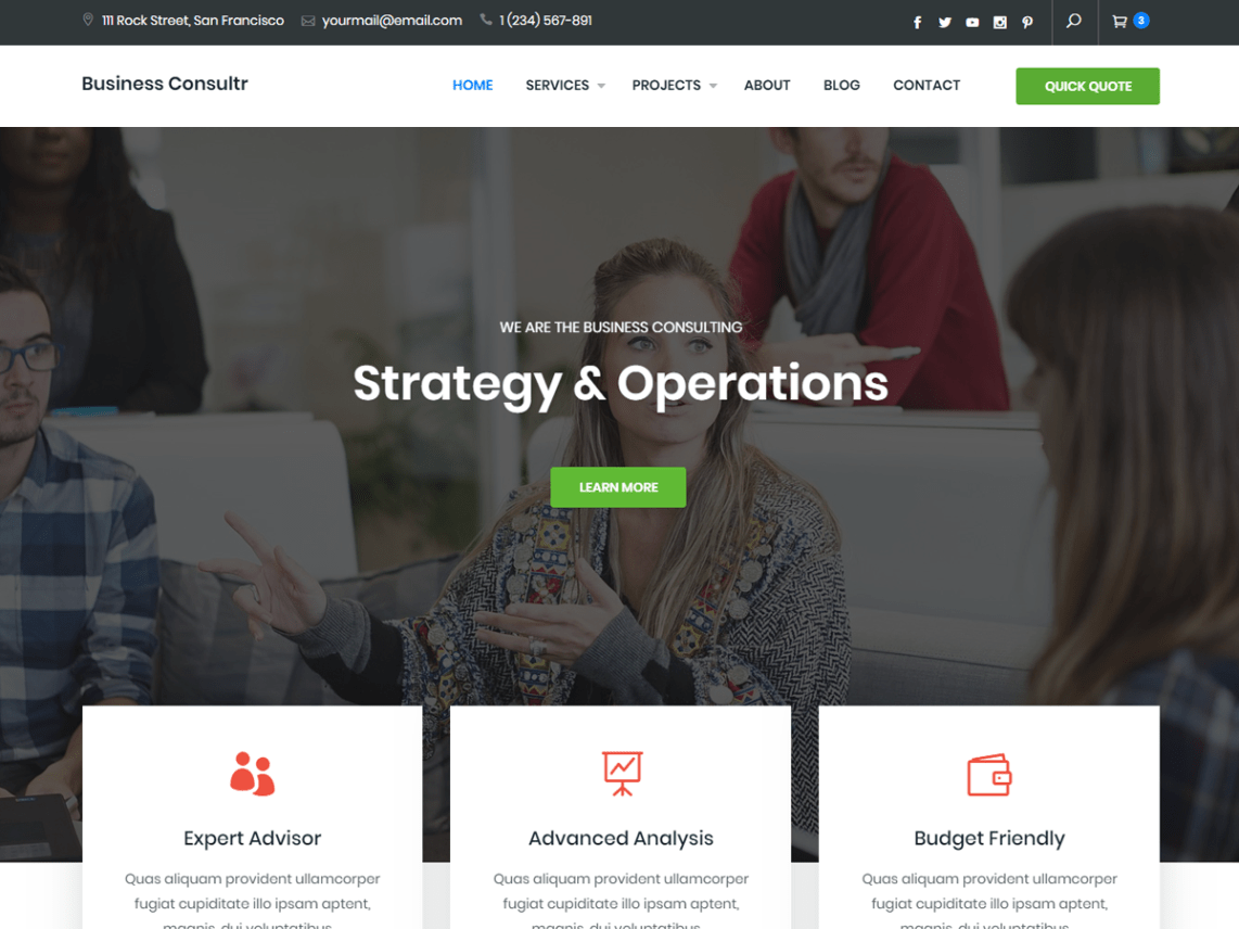 Business Consultr Theme Free Download