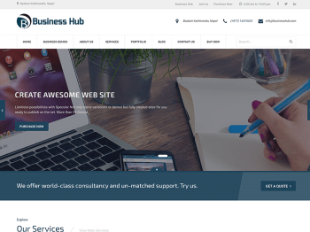 Business Hub child theme