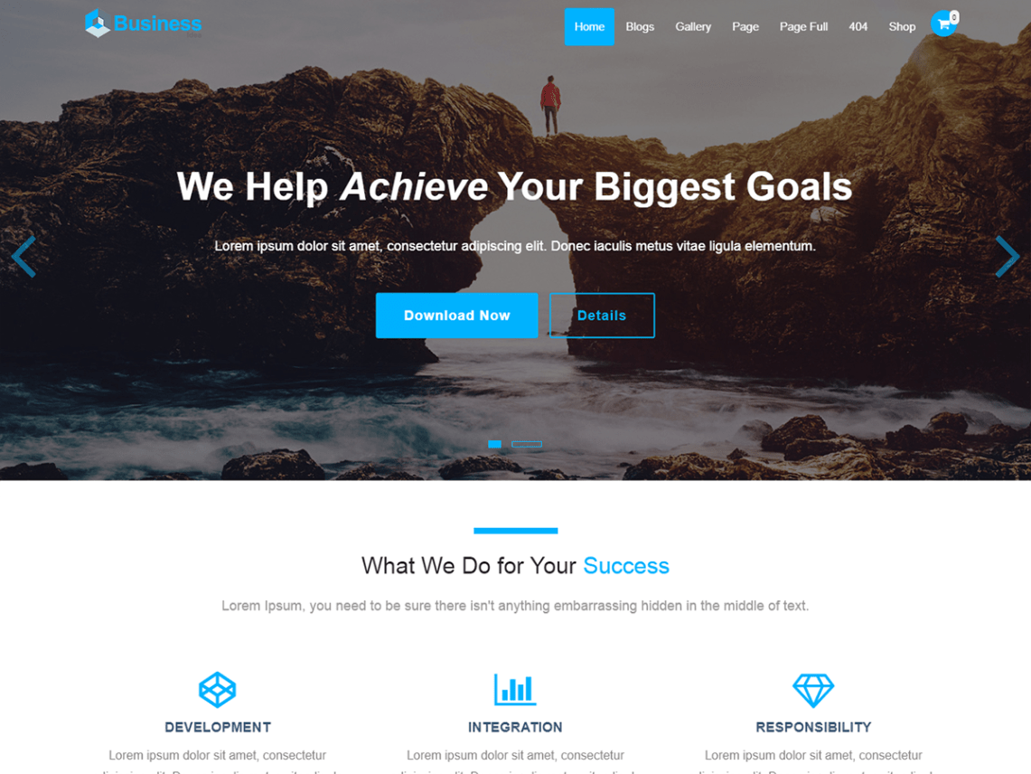 Business Idea WordPress Theme by webdzier