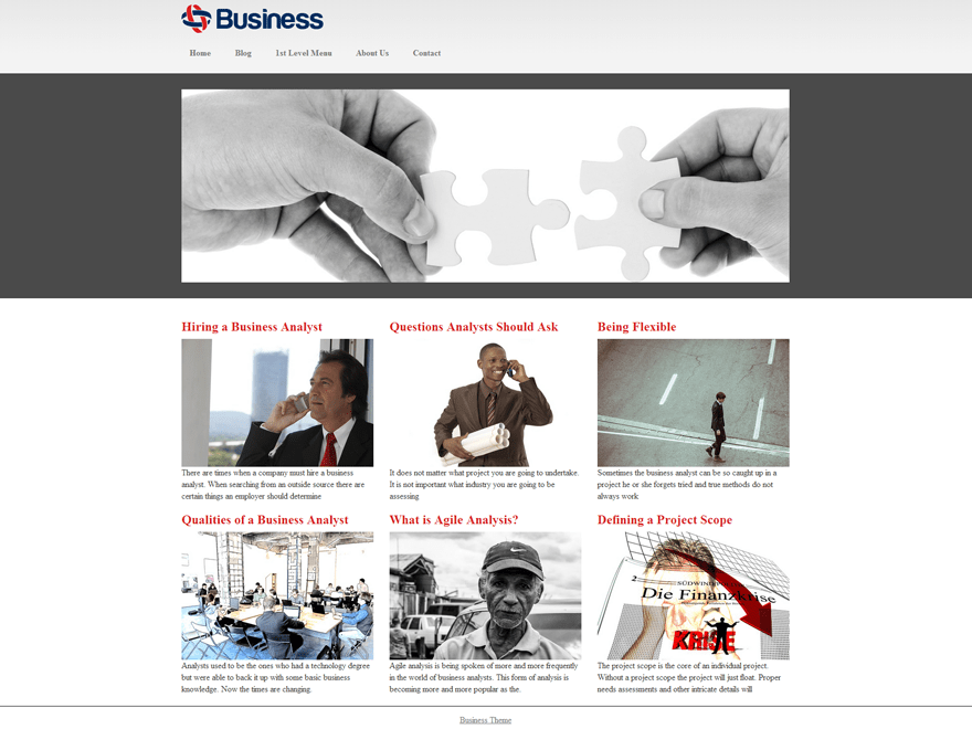 Business Mind free wordpress theme