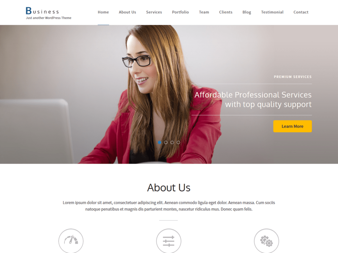 Business one page wordpress business one page is a free one page wordpress theme to create business and corporate websites it comes with one click demo import feature accmission Image collections