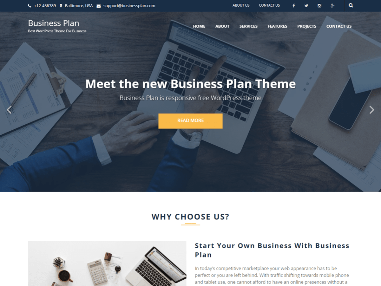 business plan wordpress org