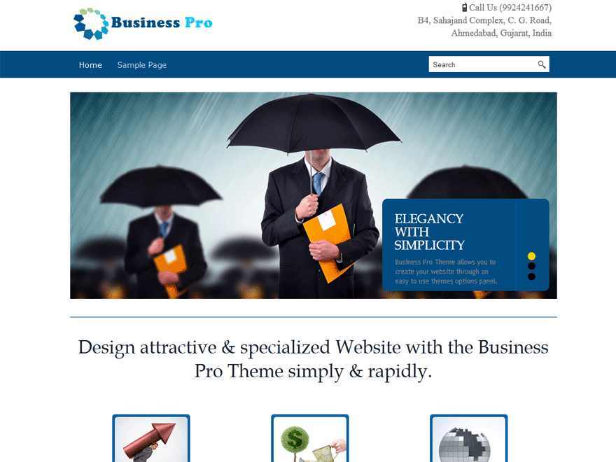 Business pro free wordpress themes business pro is a professional theme with easy customization options business pro theme is suitable for all business websites you can change your logo flashek Gallery