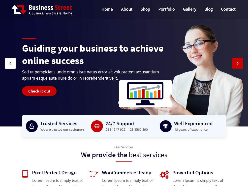 Business Street A Professional Multi-Purpose WordPress Theme