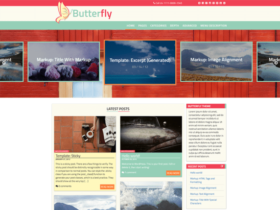 Butterfly Abode wordpress theme