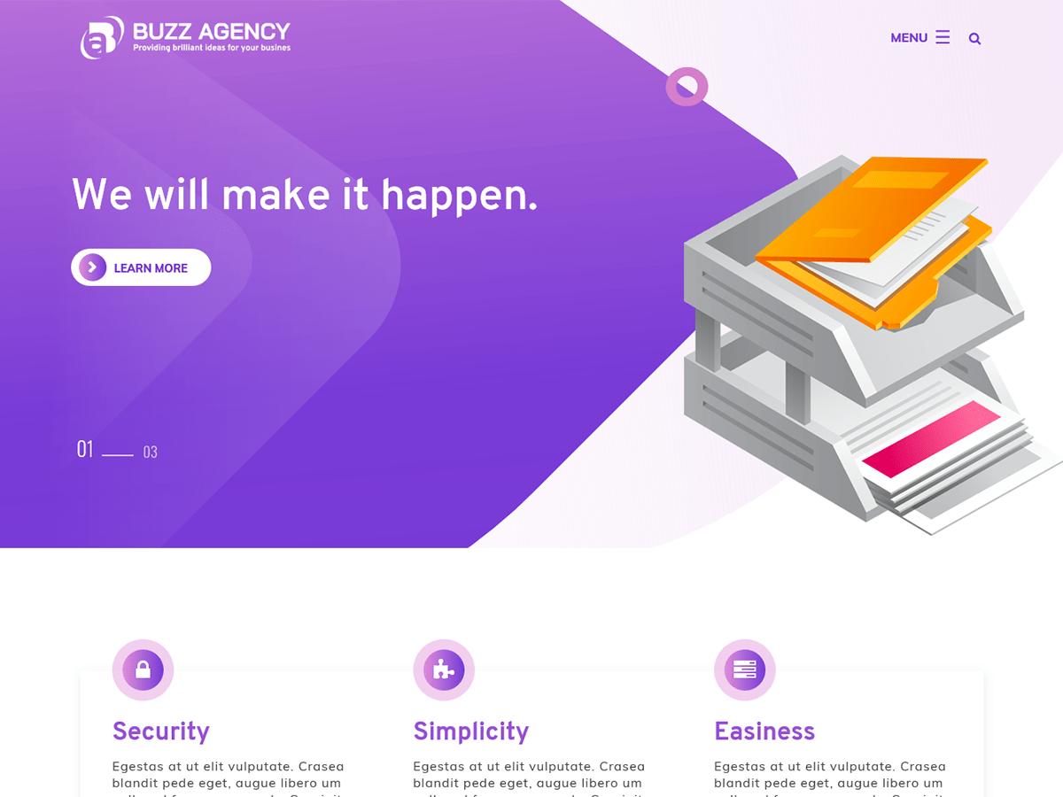 Buzz Agency Free WordPress Theme