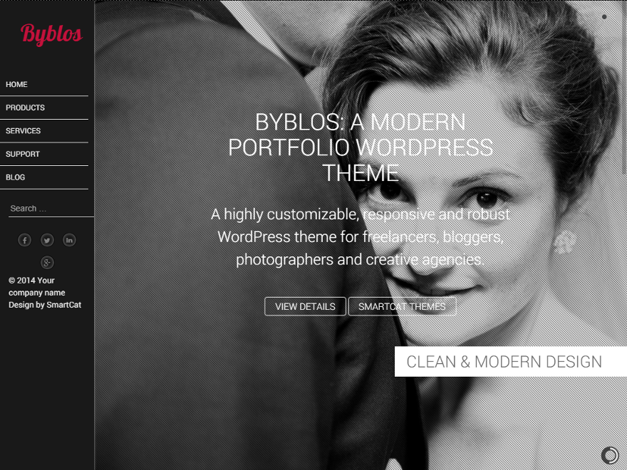 Byblos free wordpress theme