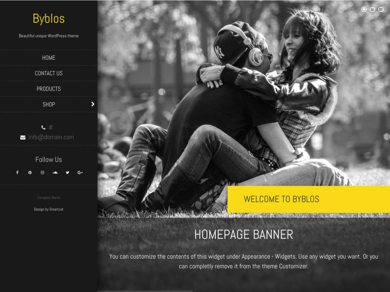 Byblos — Free WordPress Themes