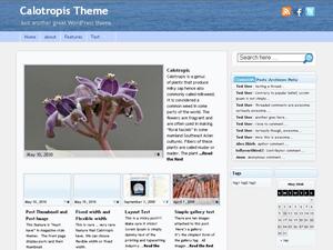 Calotropis free wordpress theme