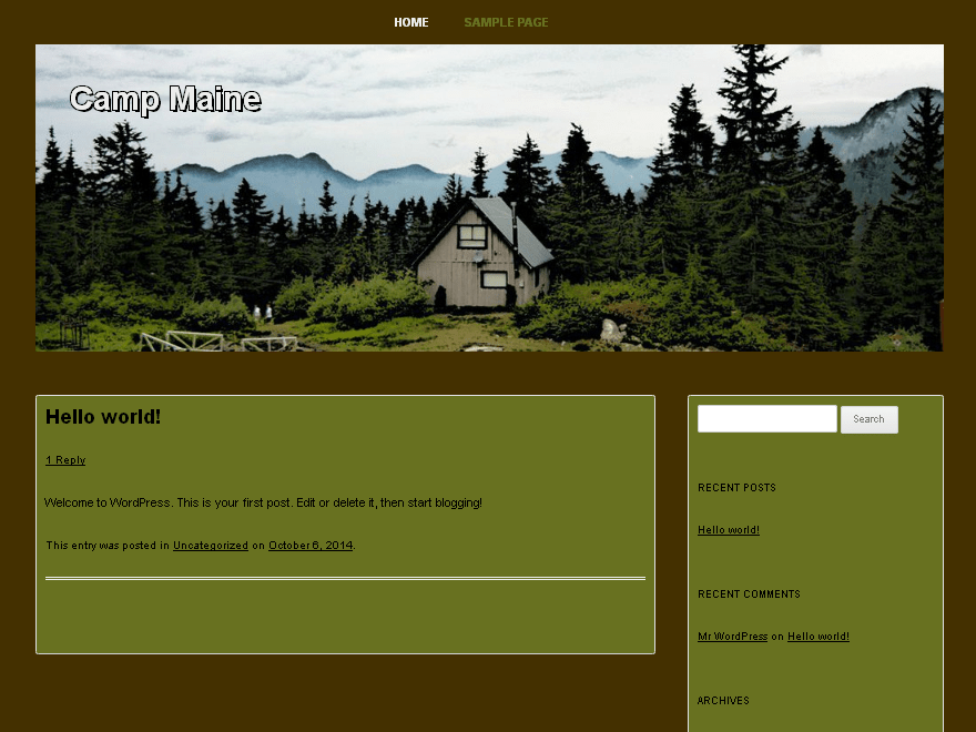 Camp Maine free wordpress theme