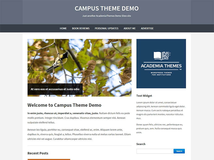 Campus free wordpress theme