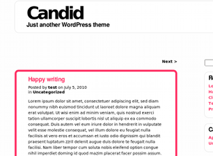 Candid free wordpress theme