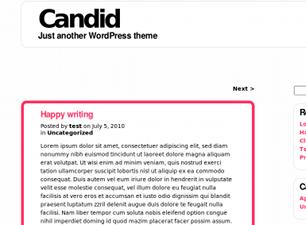 Candid free wordpress theme