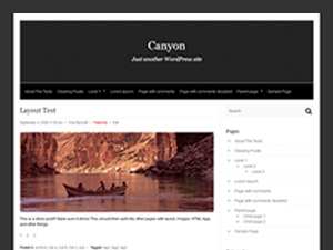 Canyon free wordpress theme