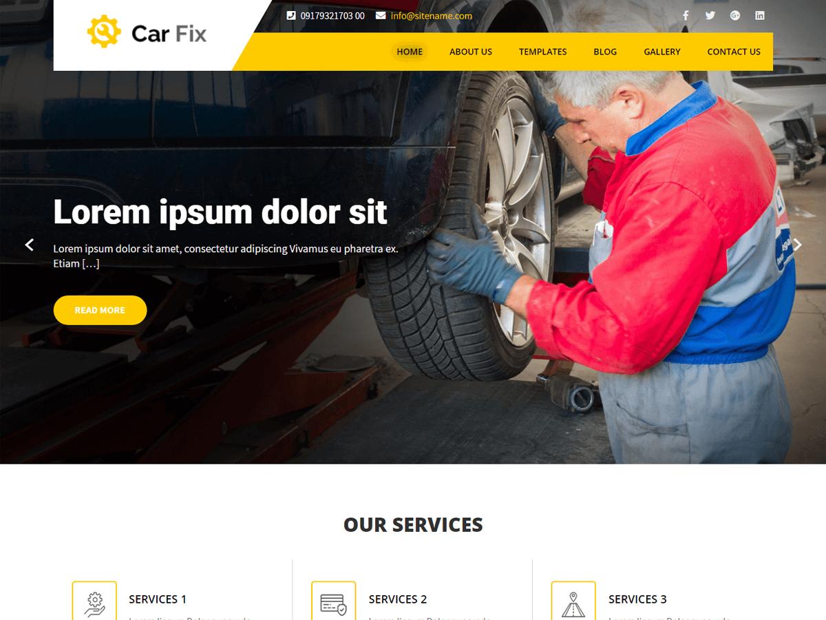 WordPress主题:Car Fix Lite