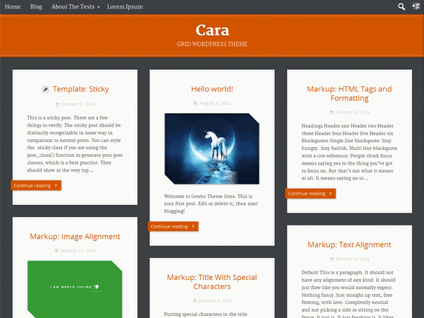 Cara free wordpress theme