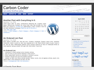 Carbon Coder free wordpress theme