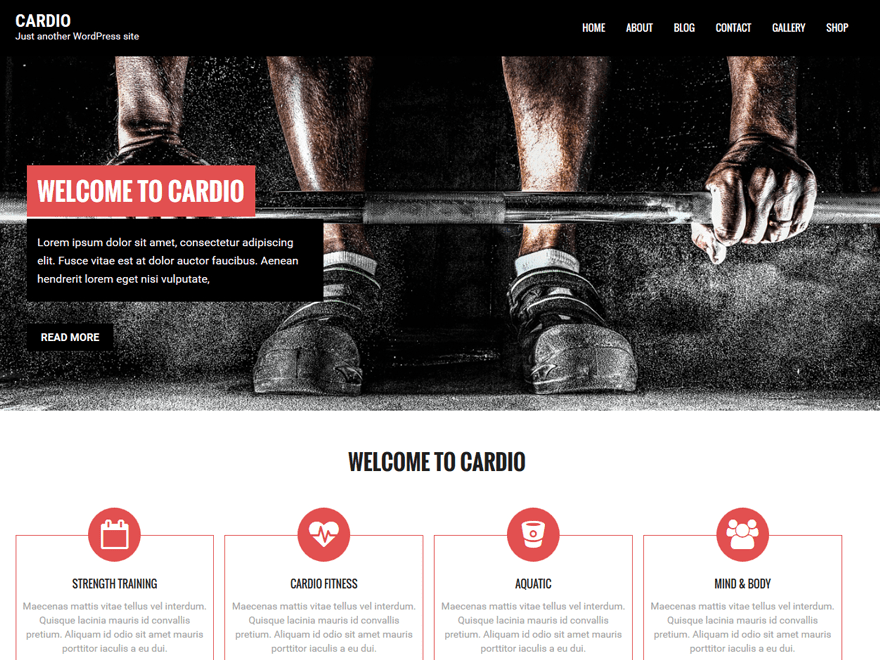 Cardio free wordpress theme