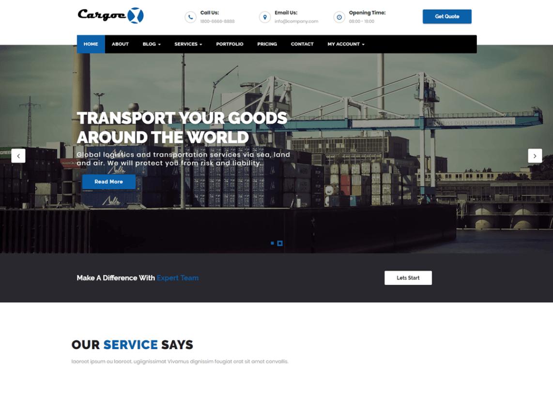 Cargoex - WordPress theme | WordPress org