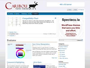 Caribou free wordpress theme