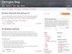 Carrington Blog free wordpress theme