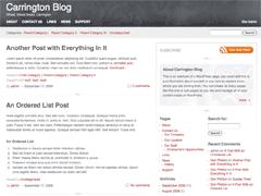 Carrington Blog Wordpress Org