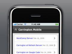 Carrington Mobile free wordpress theme