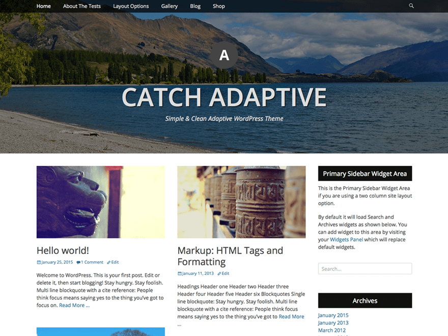 Catch Adaptive