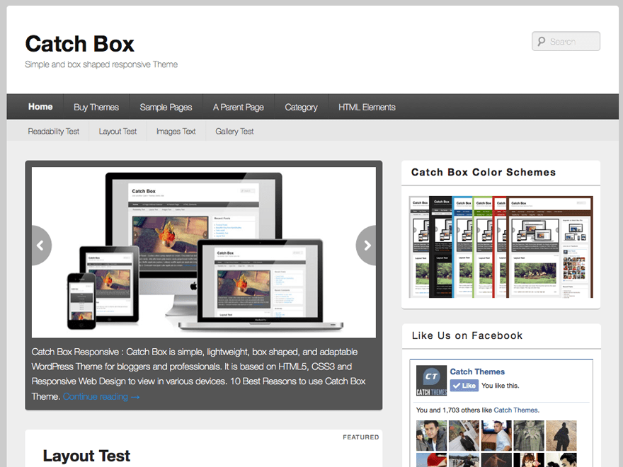 Catch Box theme wordpress gratuit