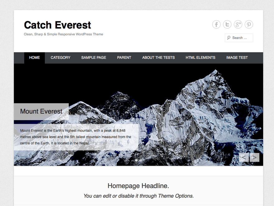 Catch Everest free wordpress theme