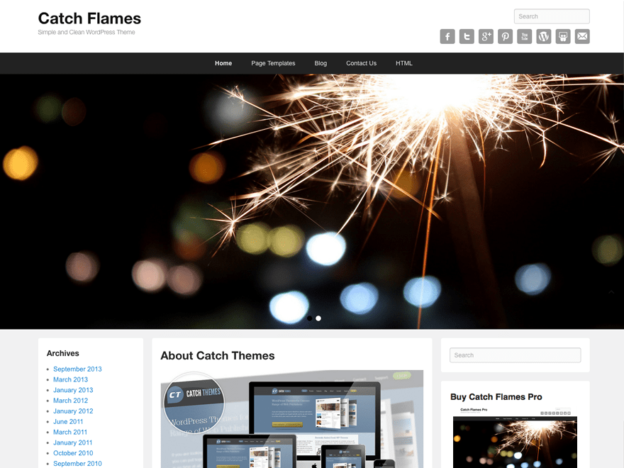 Catch Flames free wordpress theme