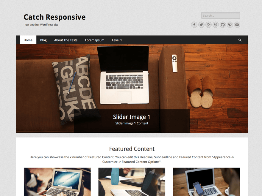 Catch Responsive free wordpress theme