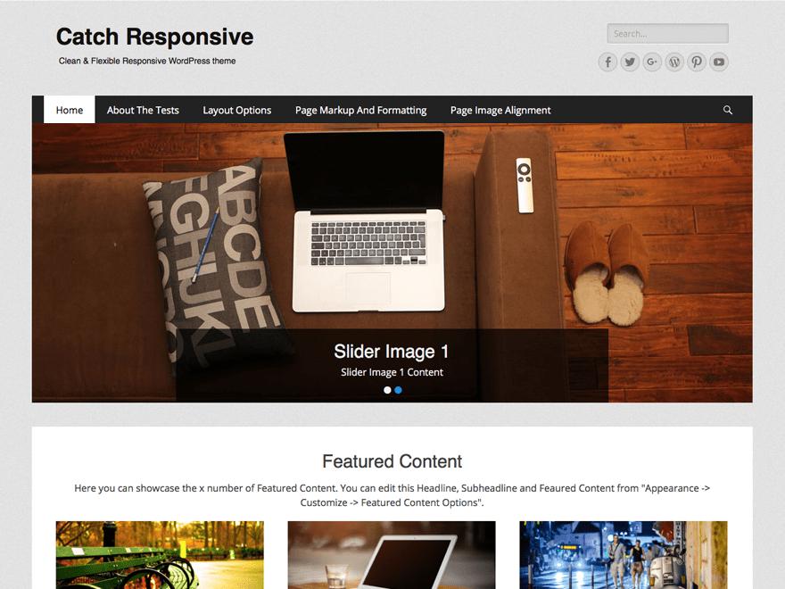 CATCH RESPONSIVE Business, Portfolio, Biographie, Blog