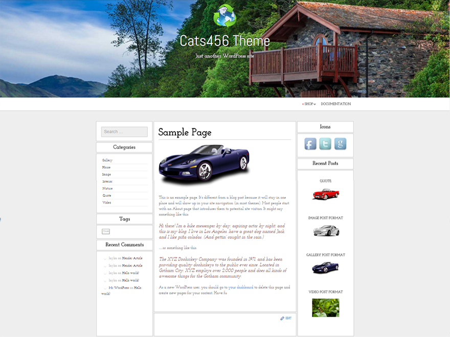 cats456 free wordpress theme