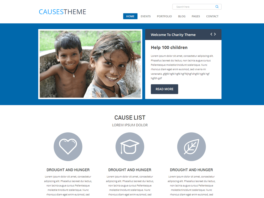 Causes free wordpress theme