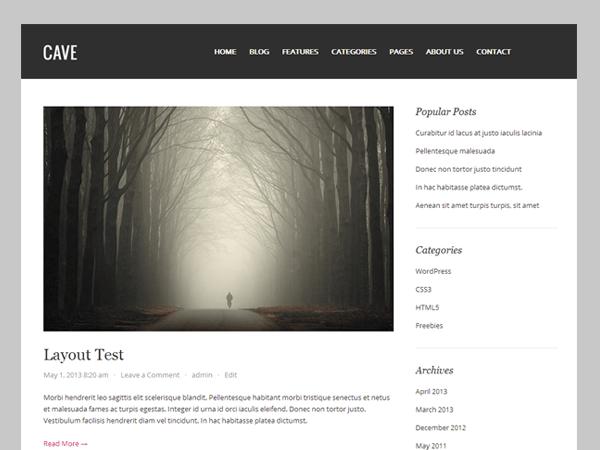 Cave free wordpress theme