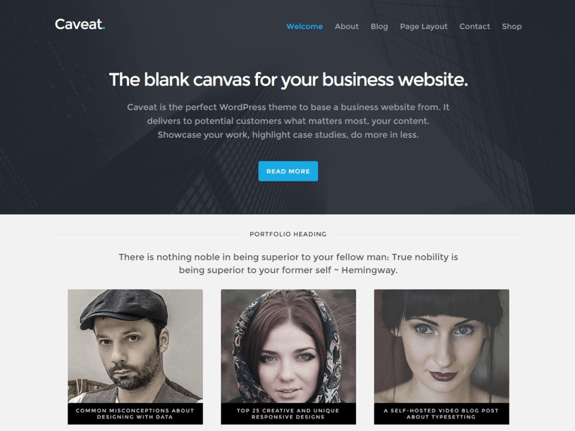 Caveat — Free WordPress Themes