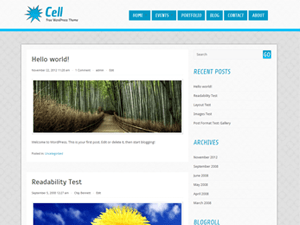 Cell free wordpress theme