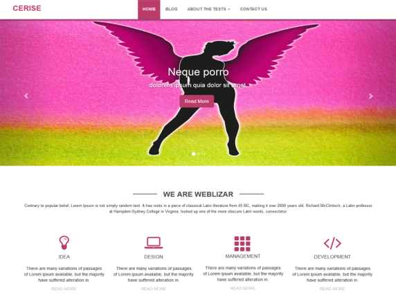 cerise wordpress theme