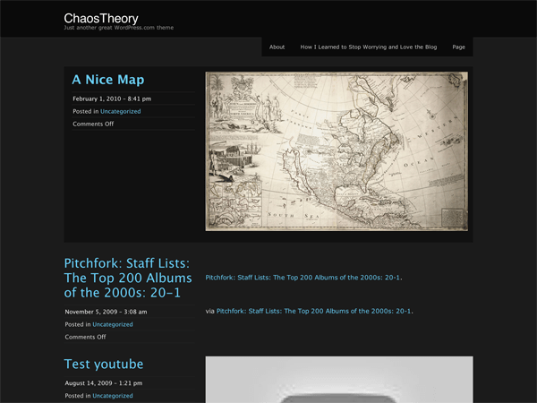 ChaosTheory free wordpress theme
