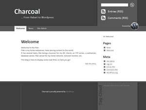 Charcoal free wordpress theme