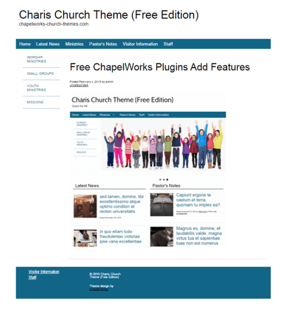 Charis Church wordpress theme