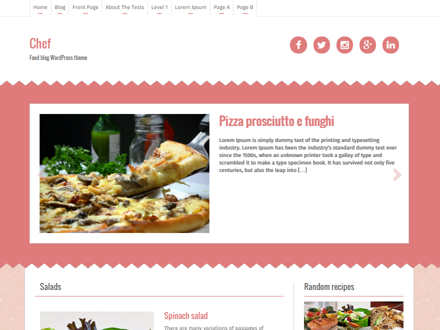 Theme directory free wordpress themes for Chef portfolio template