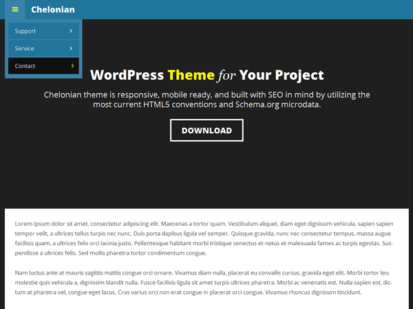 Chelonian free wordpress theme